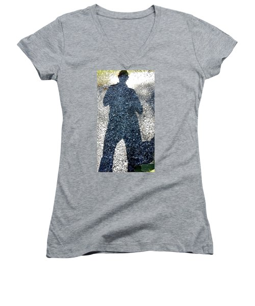 Shadow Man Women's V-Neck T-Shirt