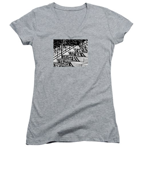 Shadow On The Rotunda Stairs Women's V-Neck