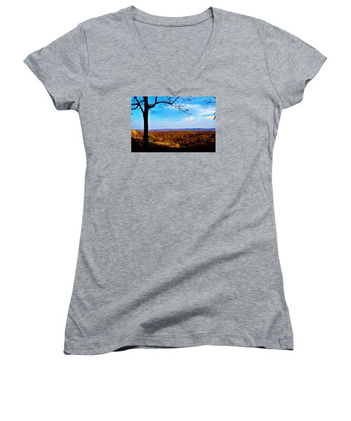 Shadow To Light Women's V-Neck T-Shirt (Junior Cut)
