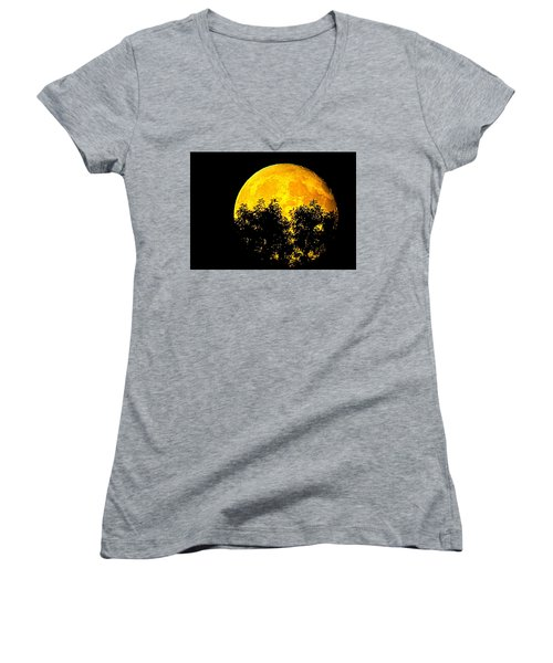 Shadows In The Moon Women's V-Neck T-Shirt