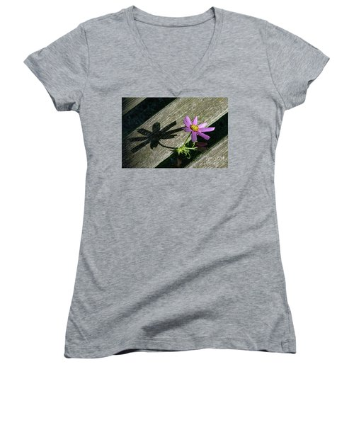 Shadows Women's V-Neck T-Shirt (Junior Cut) by Joseph Yarbrough