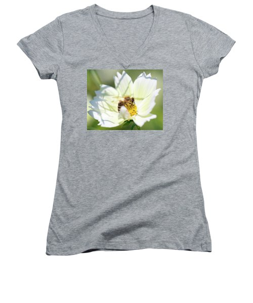 Women's V-Neck featuring the photograph Shadowy Bee by Brian Hale