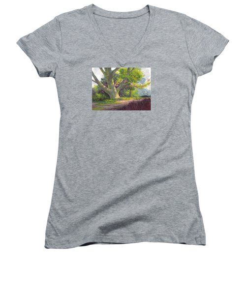 Shady Oasis Women's V-Neck T-Shirt