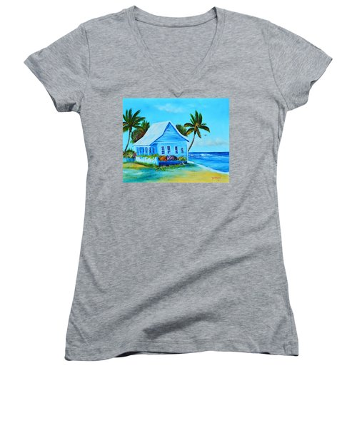 Shanty In Jamaica Women's V-Neck T-Shirt