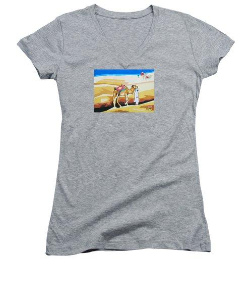 Sharing The Journey Women's V-Neck T-Shirt (Junior Cut) by Ragunath Venkatraman