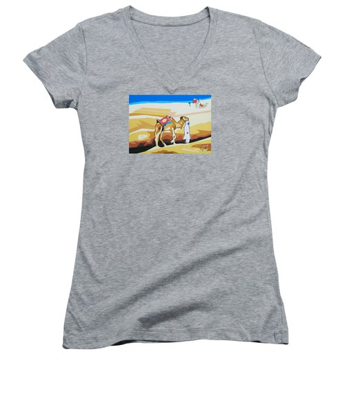 Sharing The Journey Women's V-Neck T-Shirt