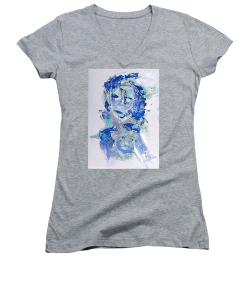 She Dreams In Blue Women's V-Neck