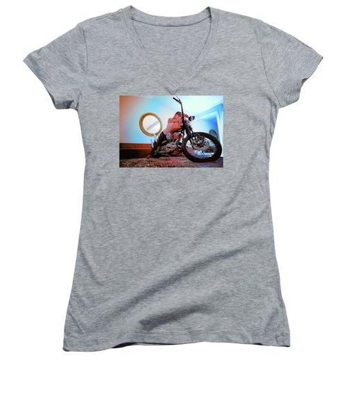 She Rides- Women's V-Neck