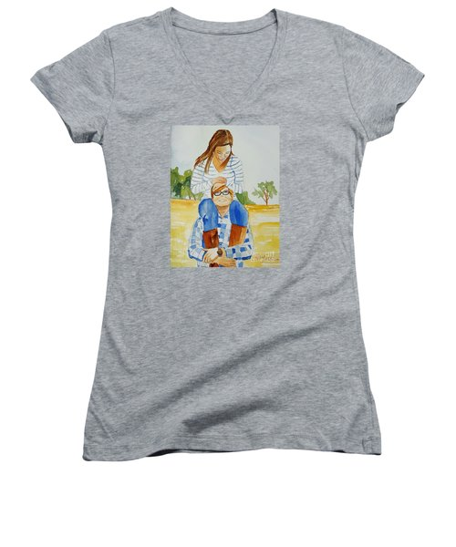She Said Yes Women's V-Neck (Athletic Fit)