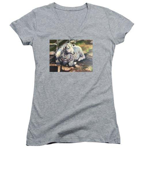 Sheep Women's V-Neck T-Shirt