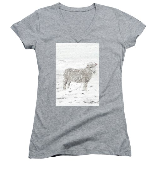 Sheep Women's V-Neck T-Shirt