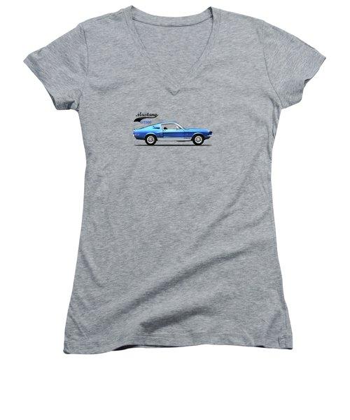 Shelby Mustang Gt500 1968 Women's V-Neck T-Shirt (Junior Cut) by Mark Rogan