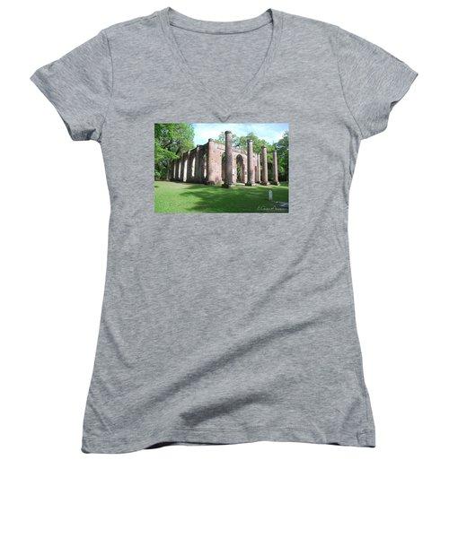Sheldon Church 3 Women's V-Neck T-Shirt