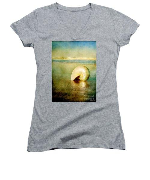 Shell In Sand Women's V-Neck