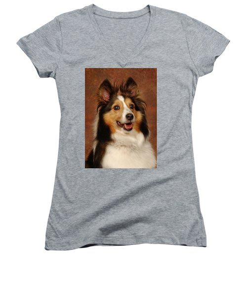 Sheltie Women's V-Neck