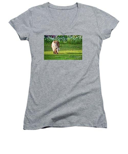 Shetland Pony Women's V-Neck (Athletic Fit)