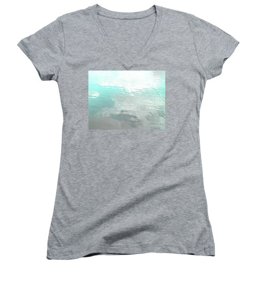 Let The Water Wash Over You. Women's V-Neck T-Shirt