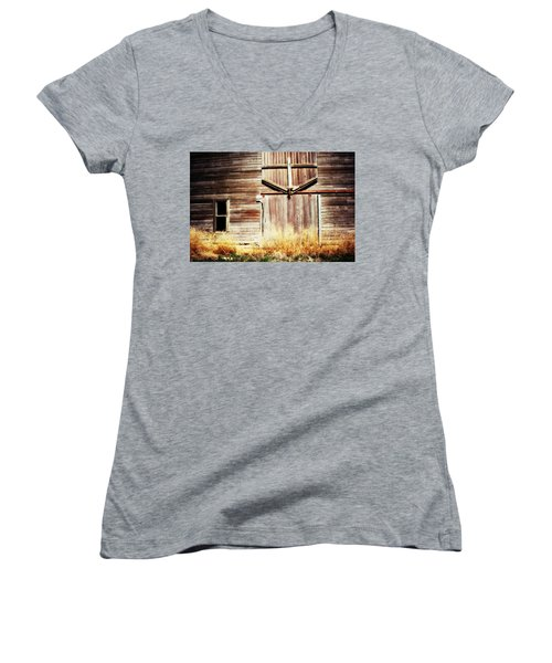 Women's V-Neck T-Shirt (Junior Cut) featuring the photograph Shine The Light On Me by Julie Hamilton
