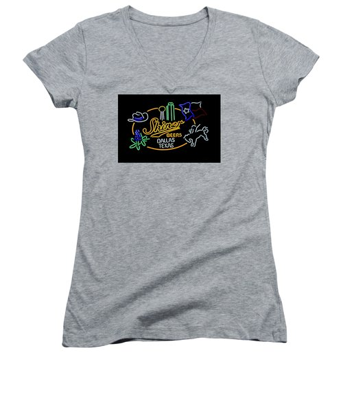 Shiner Beers Dallas Texas Women's V-Neck (Athletic Fit)