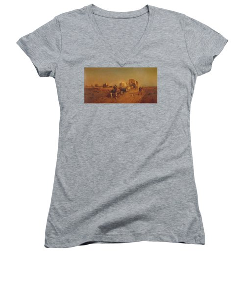 Ship Of The Plains Women's V-Neck (Athletic Fit)