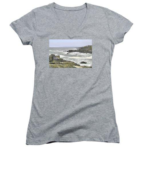 Shipwrecked Women's V-Neck T-Shirt (Junior Cut) by Sharon Batdorf