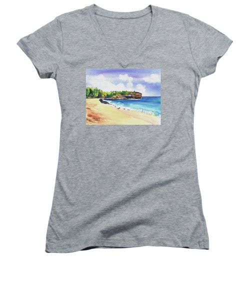 Shipwreck's Beach 2 Women's V-Neck
