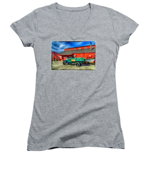 Shipyard Work Truck Women's V-Neck T-Shirt