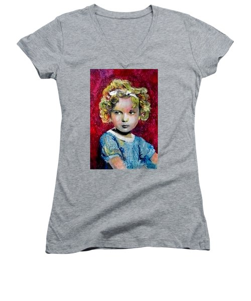 Shirley Temple Women's V-Neck T-Shirt