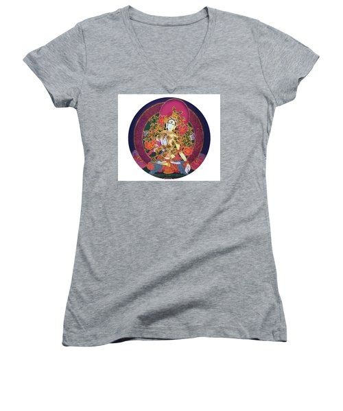 Shiva Shakti Yin And Yang Women's V-Neck