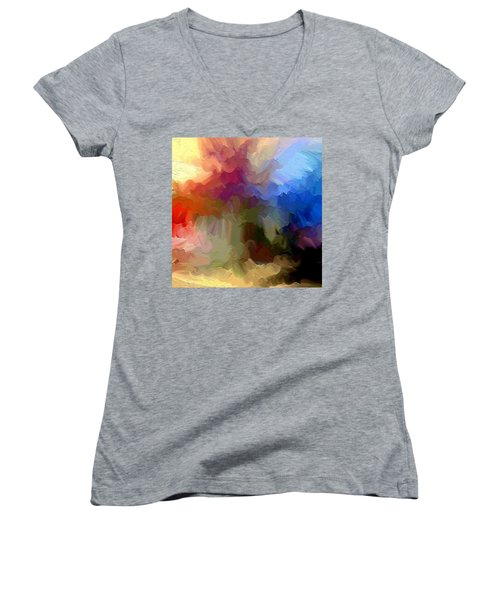 Shoop Women's V-Neck T-Shirt (Junior Cut) by Ely Arsha