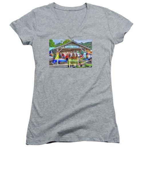 Shop Local Women's V-Neck T-Shirt (Junior Cut) by Dale R Carlson