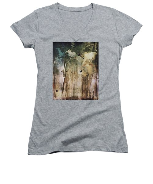 Shop Window Women's V-Neck T-Shirt (Junior Cut) by Alexis Rotella