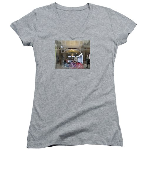 Shop Window  Women's V-Neck T-Shirt (Junior Cut) by Anna Yurasovsky