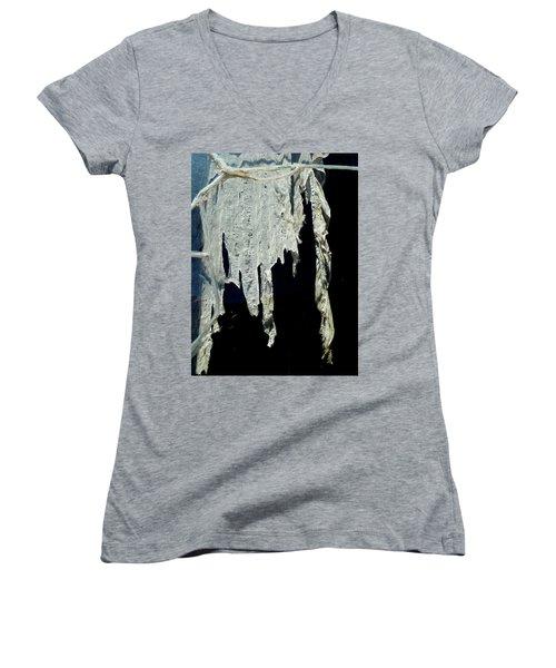 Shredded Curtains Women's V-Neck T-Shirt