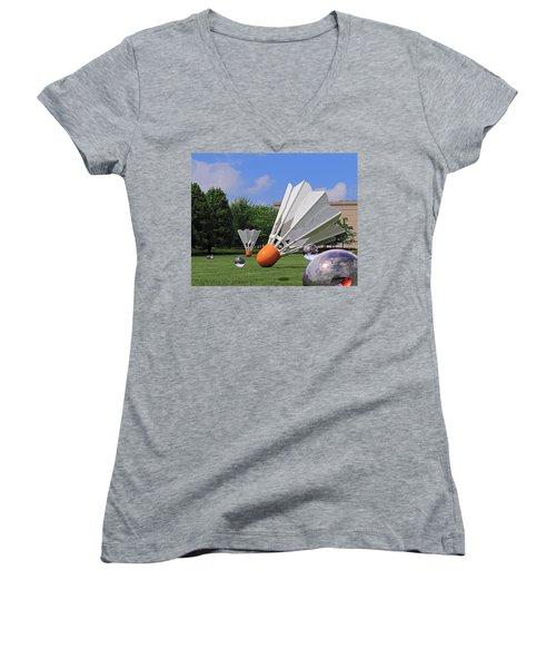 Shuttlecock Visitors Women's V-Neck T-Shirt