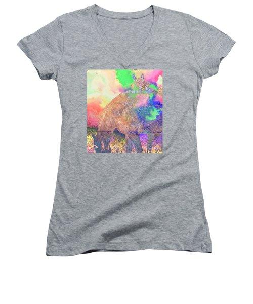 Shy One Women's V-Neck T-Shirt