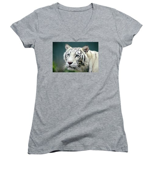 Siberian Tiger Women's V-Neck