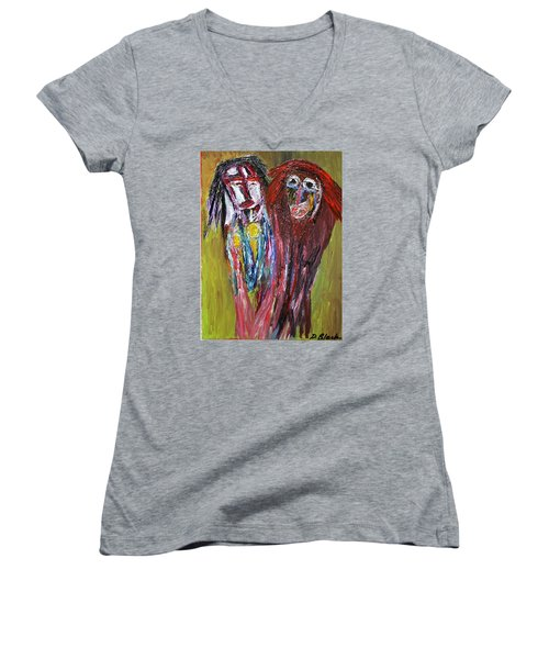 Siblings   Women's V-Neck T-Shirt