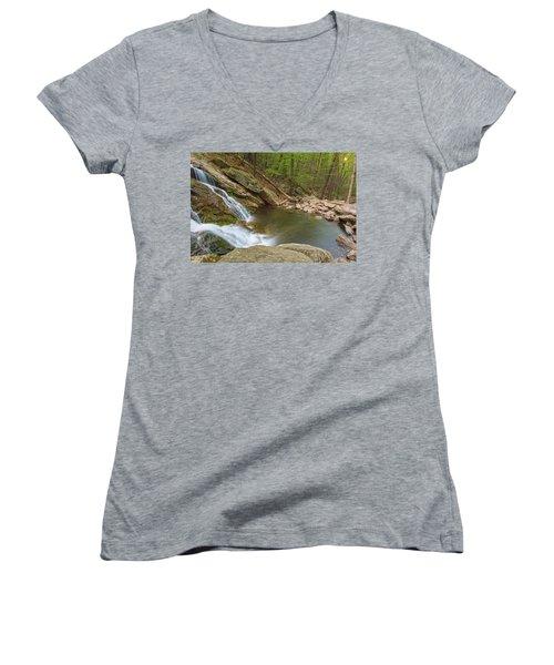 Side Slide Into The Pool Women's V-Neck T-Shirt