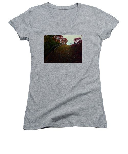 Siena In The Fall Women's V-Neck T-Shirt