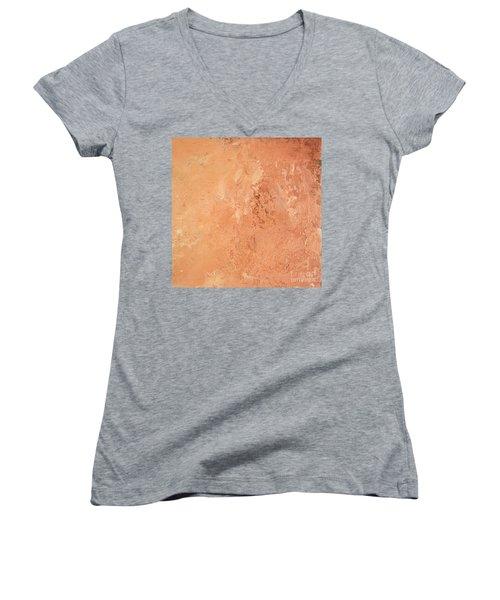 Sienna Rose Women's V-Neck T-Shirt (Junior Cut) by Michael Rock