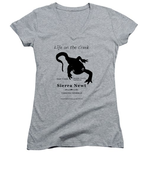 Sierra Newt - Black Women's V-Neck (Athletic Fit)