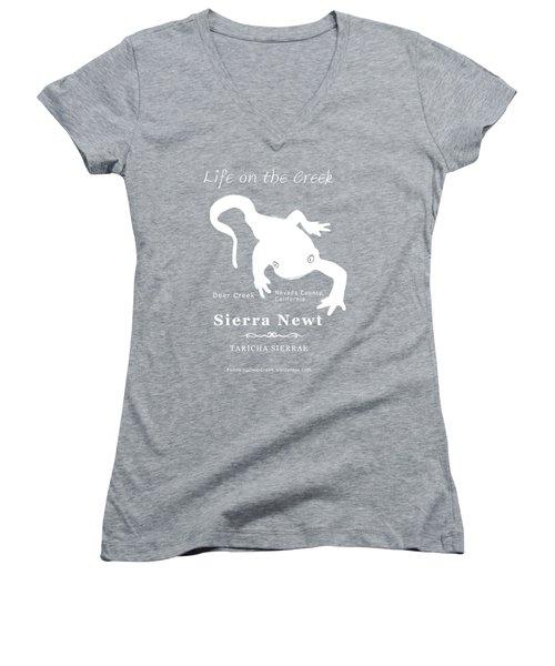 Sierra Newt - White Women's V-Neck T-Shirt