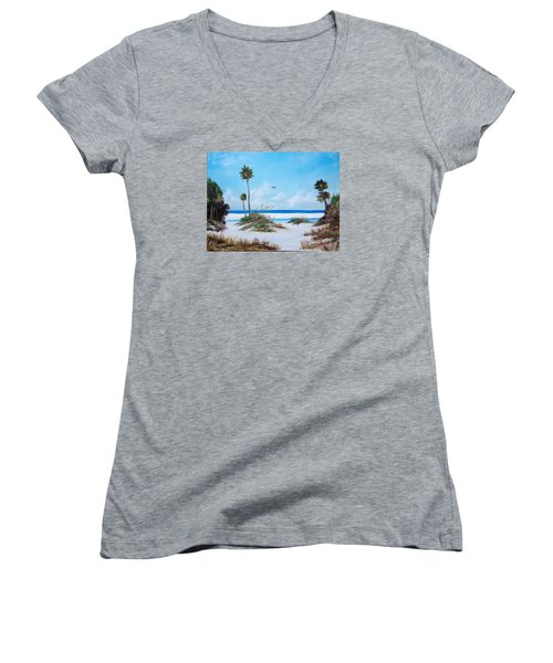 Siesta Key Fun Women's V-Neck T-Shirt