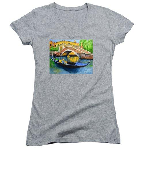 Sightseeing Women's V-Neck T-Shirt (Junior Cut) by Melvin Turner