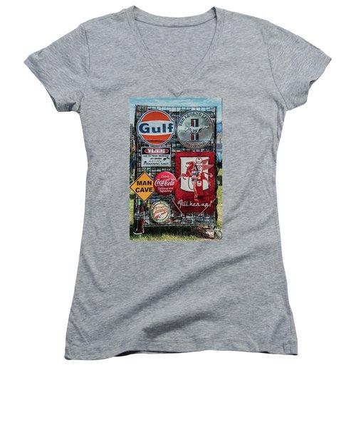 Sign Rack Women's V-Neck T-Shirt