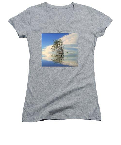 Silence Women's V-Neck T-Shirt (Junior Cut) by Elfriede Fulda