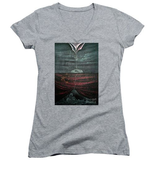Silent Echo Women's V-Neck T-Shirt