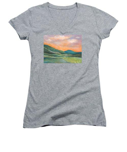 Silent Reverie Women's V-Neck T-Shirt (Junior Cut) by Tanielle Childers