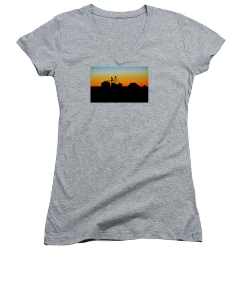 Silhouette Farm Women's V-Neck T-Shirt (Junior Cut) by William Bartholomew